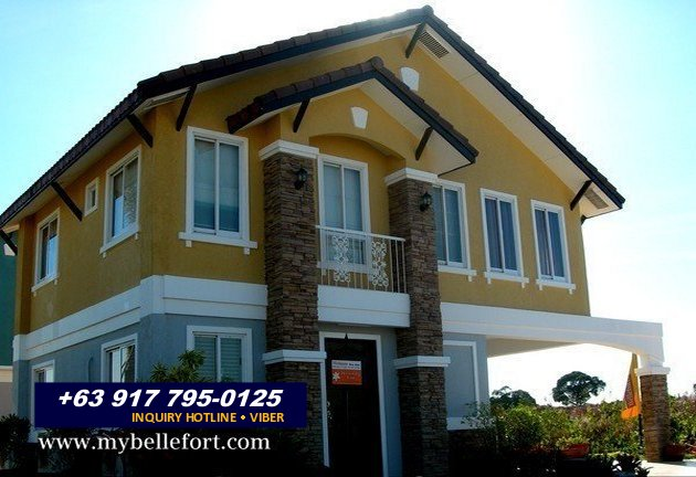 Bellefort estates vivienne house for sale in daang hari for House color design exterior philippines
